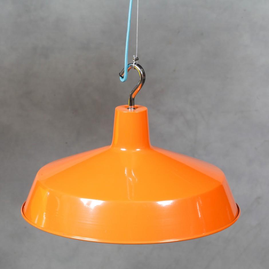 Orange Ceiling Lamp: Orange Ceiling Pendant Lamp (Blue Fabric Flex)