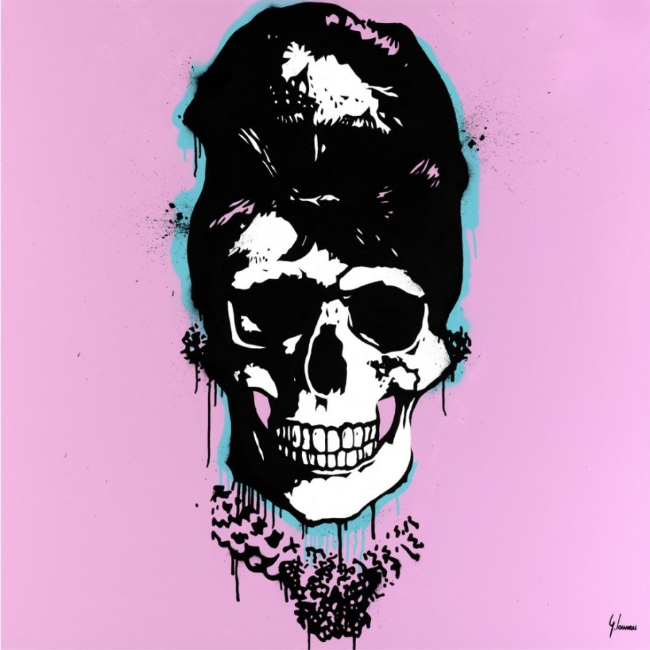 george ioannou audrey hepburn skull