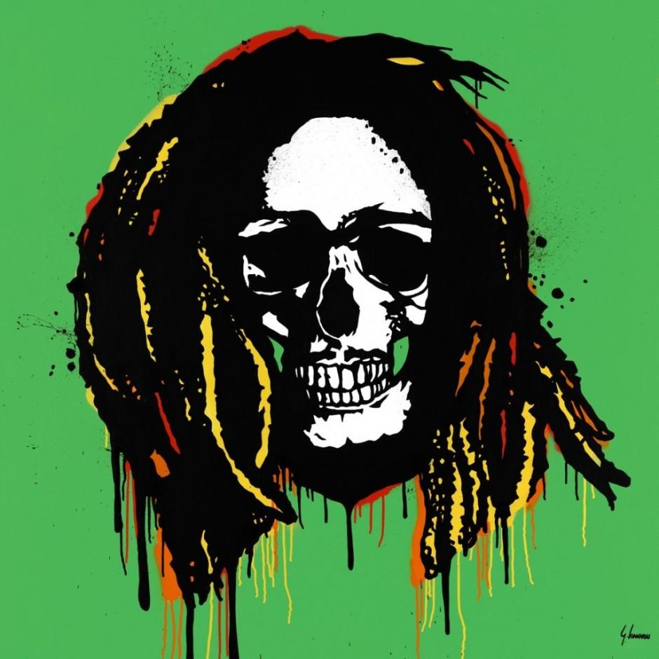 george ioannou bob marley skull