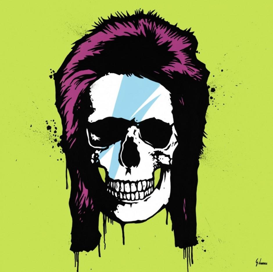 george ioannou ziggy stardust skull