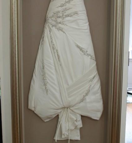 Wedding dress framed by AR