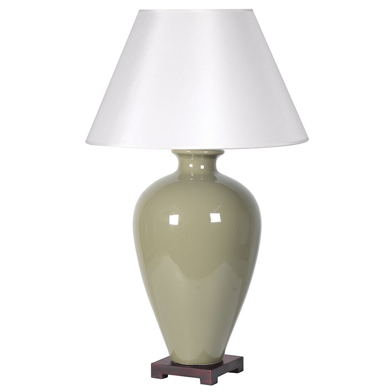 Ceramic Wall Lamp Shades : Large Olive Ceramic Lamp With Shade Art Rebellion