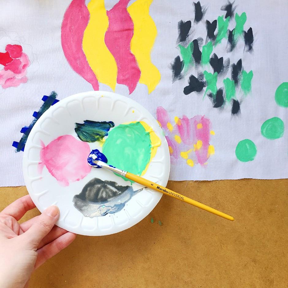 Kate Marsden Painted Lampshade Workshop 1