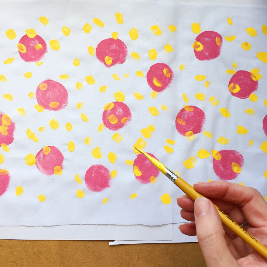 Kate Marsden Painted Lampshade Workshop 2