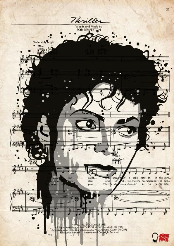 MJ-Thriller-song-sheet