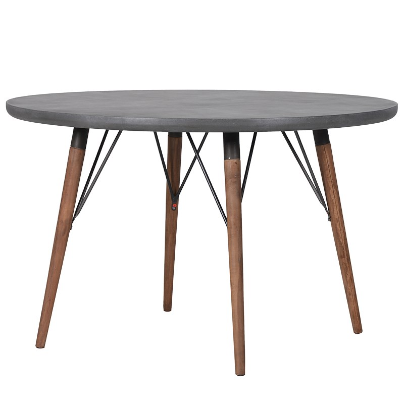 Grey Round Dining Table Art Rebellion