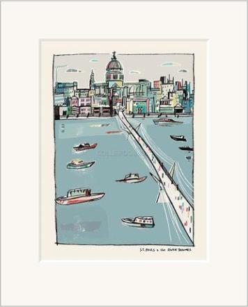 St Pauls & River Thames
